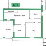 appartamento in affitto in Sardegna n. 601 - planimetria