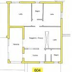 appartamento al mare in Sardegna n. 604 - planimetria