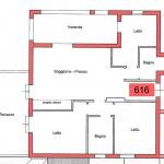 appartamento per vacanze estive n. 616 - planimetria